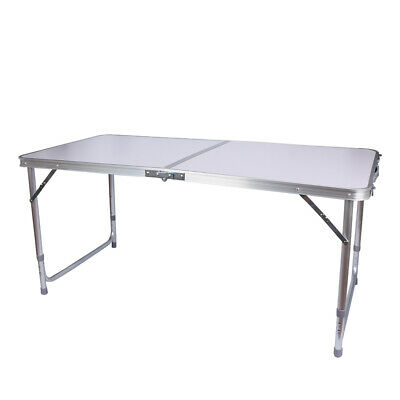 Portable Catering Camping Heavy Duty Folding Trestle Table Picnic BBQ Party 4ft