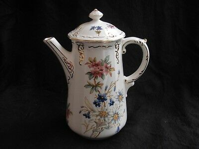 SARREGUEMINES,ANTIQUE FRENCH COFFEE POT,RIGHI,LATE 19th CENTURY.
