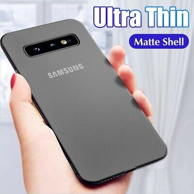 Ultra Thin Case For Samsung S10 S9 S8 Plus Slim 0.3mm Matte Hard Back Cover Skin