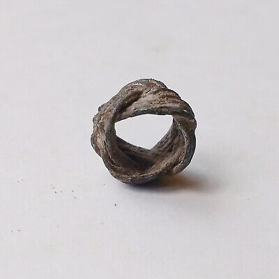 Ancient Celtic Bronze Bead Celtic Knot Type 200-100 BC