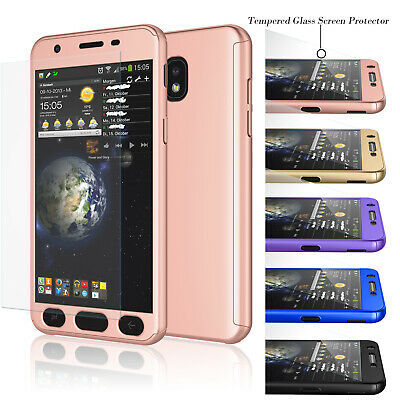 For Samsung Galaxy J7 Crown/J7 Star /J7 2018 Full Protective Case+Tempered Glass