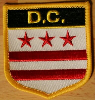 DISTRICT OF COLUMBIA WASHINGTON DC US State USA Shield Flag Embroidered PATCH P1