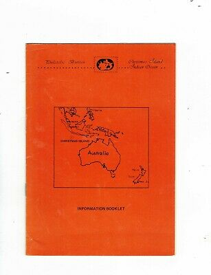 CHRISTMAS ISLAND 1980/85 Philatelic Newsletters & INFORMATION BOOKLET (11 scans)