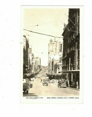 Australia Postcard, King Street Looking East SYDNEY  NSW