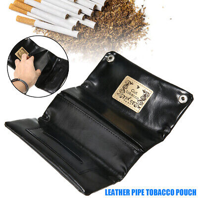 PU Leather Cigarette Cigar Tobacco Pouch Bag Case Rolling Paper Pipe Holder