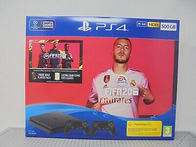 EMPTY BOX ONLY - PlayStation 4 Slim FIFA 20 PS4 500GB Jet Black Two Controllers