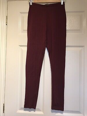 Burgundy Leggings, Size 6/8, New Without Tags