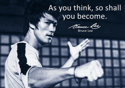 Best selling Bruce Lee Poster #52 - Motivational quotes - A3 - 420mm x 297mm