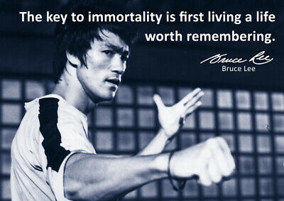 Bruce Lee Poster #55 - Best Motivational quotes - A3 - 420mm x 297mm