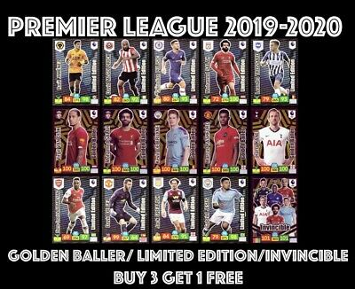 Panini Premier League Adrenalyn 2019/20 19/20 Golder Baller Limited Invincible
