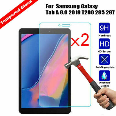 2x Tempered Glass Screen Protector Cover for Samsung Galaxy Tab A 8.0 2019 T290