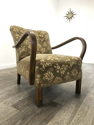 Original Early Mid Century / Art Deco Bentwood Armchair Halabala style