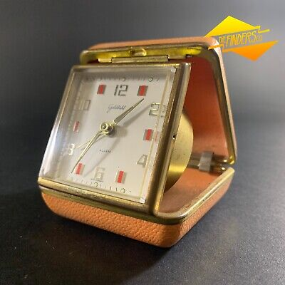 Vintage Retro Goldbuhl West-German Made Folding Travel Alarm Clock