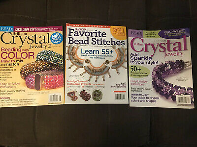 Brilliant Crystal Jewelry 1 And 2 & Favorite Bead Stitches Magazines EUC