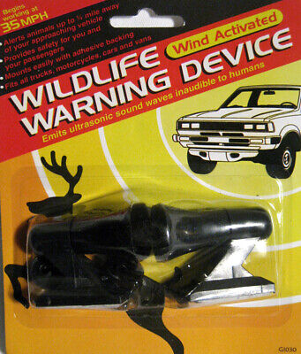 2 Deer Warning Whistle Animal Sonic Alert Device Car Safety Wildfire New Camping