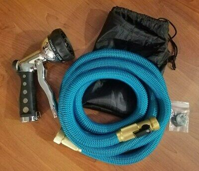 Expandable Water Garden Hose High Pressure Washer Solid Brass Fittings 25 Feet