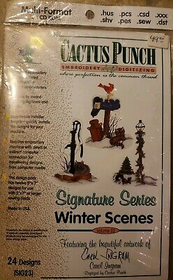 New Cactus Punch Machine Embroidery Signature Series winter scenes volume 23
