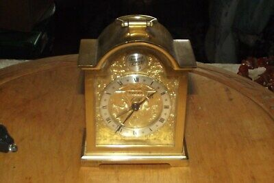 Old Vintage Clock SWIZA TEMPUS FUGIT Swiss Made Brass Mechanical 8 Alarm Clock