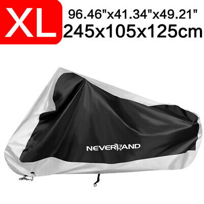 XL Silver Motorcycle Cover Waterproof Fit For Harley Davidson Sportster 1200 883