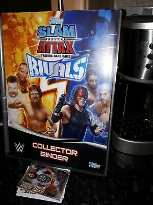 Topps WWE Slam Attax Rivals Collector Binder & Wrestling Cards - VG Condition