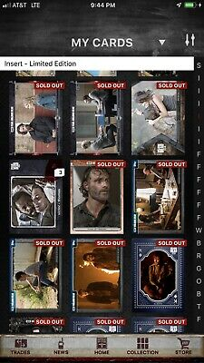 Topps The Walking Dead Digital Card Trader Lot Of 275 Inserts