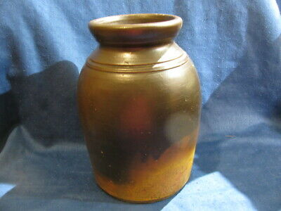 Antique Redware Stoneware Crock / Canning