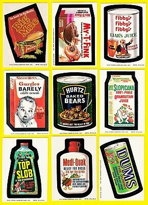 1974 Original Wacky Packages Series 7 Full Set w/Puzzle and both Grime