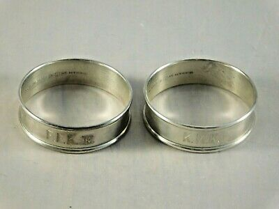 LOT of 2 ANTIQUE GORHAM STERLING SILVER NAPKIN RINGS #6290