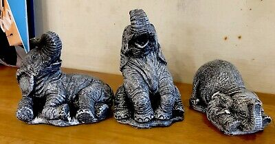 3 Latex moulds for making These 3 Elephants