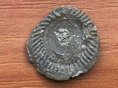 Ancient Late Roma or Byzantine Medieval Lead Seal Very Rare