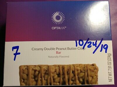 Medifast OPTAVIA Creamy Double Peanut Butter Crisp Bars x  7 packs in date