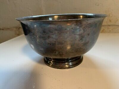 Webster Wilcox International Silver Footed Serving Fruit Bowl Decor Silverplate