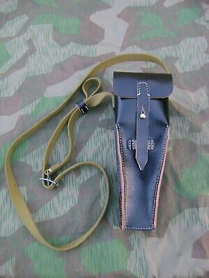 German WW2 Black Leather Grenade Launcher Pouch Reproduction