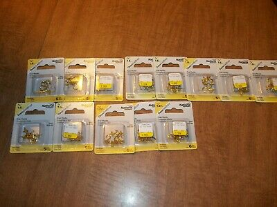 Stanley National  Lot  Cup Hooks (68 Hooks) Brass