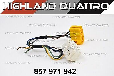 Audi ur quattro coupe yellow & white dashboard connector from loom 857971942