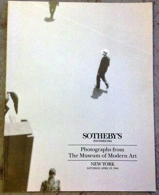 Photographs from the Museum of Modern Art, New York, 1994, Sotheby's Catalogue