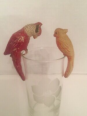 Vintage -Celluloid Cockatoo/parrot- Balancing Birds (2)