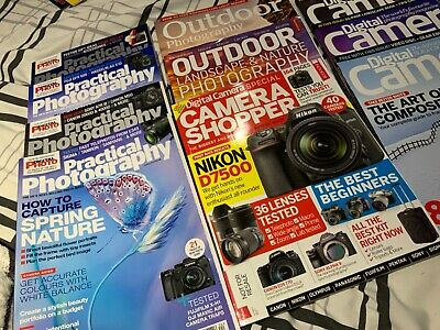 photography magazines  a selection of