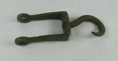 Antique Primitive Cast Iron Steel Hook Hand Forged Lamp parts