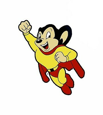 Mighty Mouse Cartoon Hero Saved My Day Rescuing Pearl Pureheart Tee Shirt S-3XL
