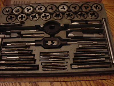 Nice 40pc Vintage USA made Craftsman Metric Tap and Hex die Set