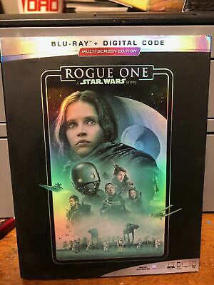 New: Rogue One A Star Wars Story Blu Ray+D/Code W/Slipcover  Multiscreen Edition