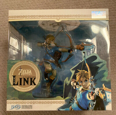 Nintendo Legend of Zelda: Breath of the Wild Link Statue First 4 Figures 10""