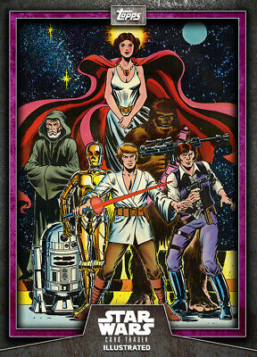 Topps Star Wars Card Trader Illustrated 2019 Purple Heroes of the Galaxy 125cc