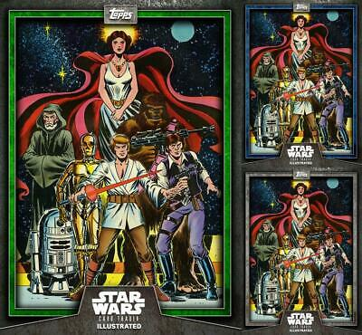 Topps Star Wars Card Trader Illustrated 19 Heroes of the Galaxy Green/Blue/Gray