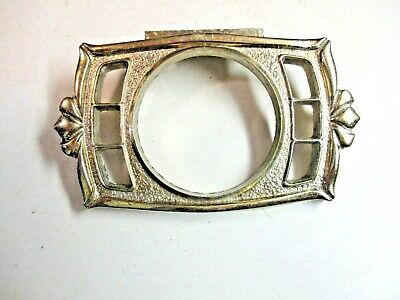 Vintage Donner USA 1974 Wall Mount Bright Brass Plated 6 Toothbrush Glass Holder