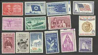 1957 Us Mint Commemorative Complete Year Set 14 Stamps 1086-1099 Mnh