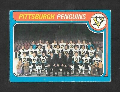 1979-80  Opc Hockey , # 256 , Pittsburgh Penguins ( Unmarked Checklist )
