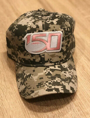 2019 NCAA College Football 150th Cap Hat PINK CANCER 150 CAMO SALUTE TO SERVICE