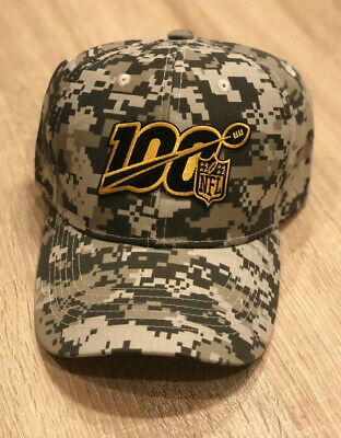 NFL 100th Season Cap Hat 2019 Digital Camo STEELERS SAINTS SALUTE TO SERVICE 100